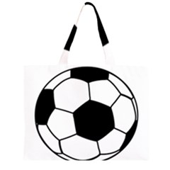 Soccer Lovers Gift Zipper Large Tote Bag by ChezDeesTees