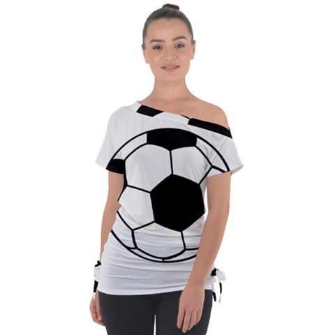 Soccer Lovers Gift Tie-up Tee by ChezDeesTees