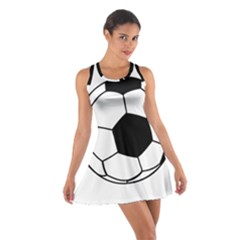 Soccer Lovers Gift Cotton Racerback Dress by ChezDeesTees