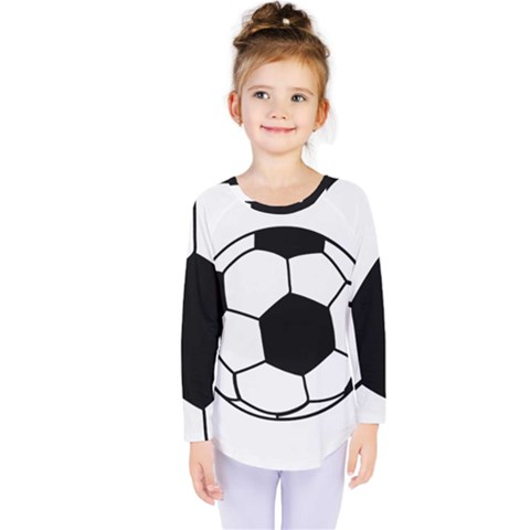 Soccer Lovers Gift Kids  Long Sleeve Tee by ChezDeesTees