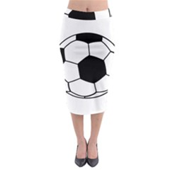 Soccer Lovers Gift Midi Pencil Skirt by ChezDeesTees