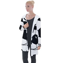 Soccer Lovers Gift Longline Hooded Cardigan by ChezDeesTees