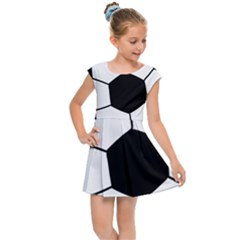 Soccer Lovers Gift Kids  Cap Sleeve Dress by ChezDeesTees