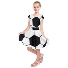 Soccer Lovers Gift Kids  Short Sleeve Dress by ChezDeesTees