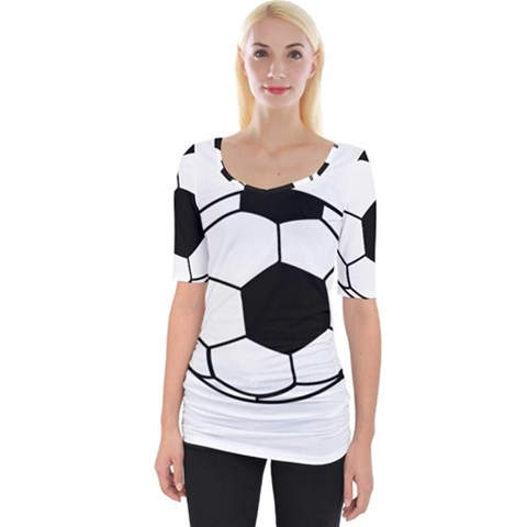 Soccer Lovers Gift Wide Neckline Tee by ChezDeesTees