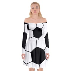 Soccer Lovers Gift Off Shoulder Skater Dress by ChezDeesTees