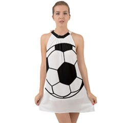 Soccer Lovers Gift Halter Tie Back Chiffon Dress by ChezDeesTees