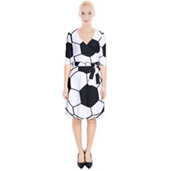 Soccer Lovers Gift Wrap Up Cocktail Dress by ChezDeesTees