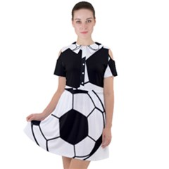 Soccer Lovers Gift Short Sleeve Shoulder Cut Out Dress  by ChezDeesTees
