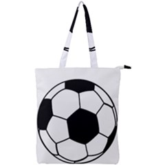 Soccer Lovers Gift Double Zip Up Tote Bag by ChezDeesTees