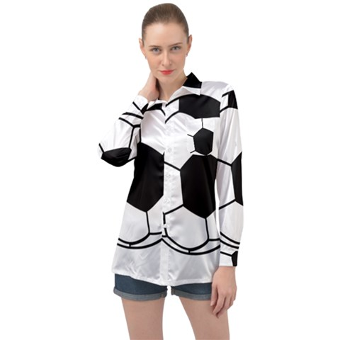 Soccer Lovers Gift Long Sleeve Satin Shirt by ChezDeesTees