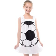 Soccer Lovers Gift Kids  Cross Back Dress by ChezDeesTees