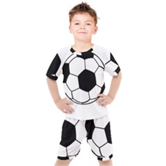 Soccer Lovers Gift Kids  Tee And Shorts Set by ChezDeesTees