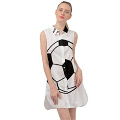 Soccer Lovers Gift Sleeveless Shirt Dress by ChezDeesTees