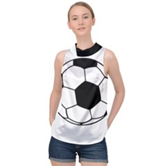 Soccer Lovers Gift High Neck Satin Top by ChezDeesTees