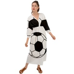 Soccer Lovers Gift Grecian Style  Maxi Dress by ChezDeesTees