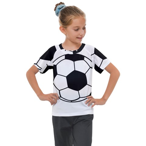 Soccer Lovers Gift Kids  Mesh Piece Tee by ChezDeesTees