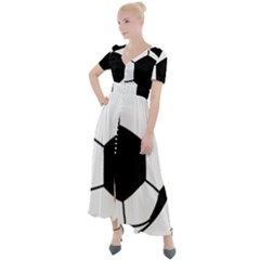 Soccer Lovers Gift Button Up Short Sleeve Maxi Dress by ChezDeesTees
