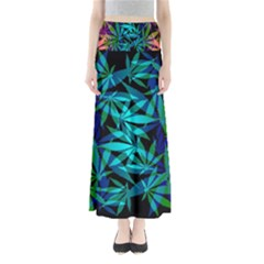 420 Ganja Pattern, Weed Leafs, Marihujana In Colors Full Length Maxi Skirt by Casemiro