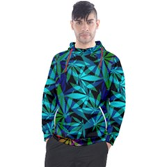 420 Ganja Pattern, Weed Leafs, Marihujana In Colors Men s Pullover Hoodie
