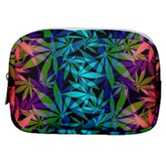 420 Ganja Pattern, Weed Leafs, Marihujana In Colors Make Up Pouch (small)