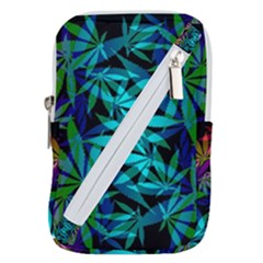420 Ganja Pattern, Weed Leafs, Marihujana In Colors Belt Pouch Bag (large)