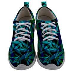 420 Ganja Pattern, Weed Leafs, Marihujana In Colors Mens Athletic Shoes