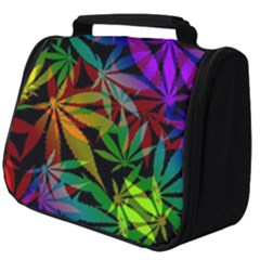 Ganja In Rainbow Colors, Weed Pattern, Marihujana Theme Full Print Travel Pouch (big)