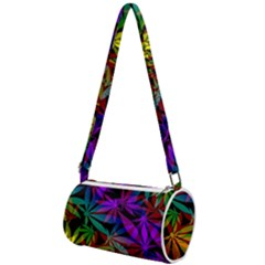 Ganja In Rainbow Colors, Weed Pattern, Marihujana Theme Mini Cylinder Bag