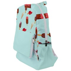 Ice Cream Pattern, Light Blue Background Travelers  Backpack