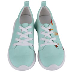 Ice Cream Pattern, Light Blue Background Women s Lightweight Sports Shoes