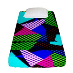 Trippy Blocks, Dotted Geometric Pattern Fitted Sheet (single Size)