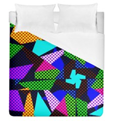 Trippy Blocks, Dotted Geometric Pattern Duvet Cover (queen Size)