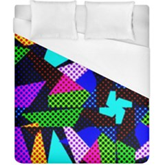 Trippy Blocks, Dotted Geometric Pattern Duvet Cover (california King Size)