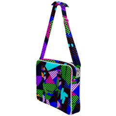 Trippy Blocks, Dotted Geometric Pattern Cross Body Office Bag