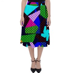 Trippy Blocks, Dotted Geometric Pattern Classic Midi Skirt