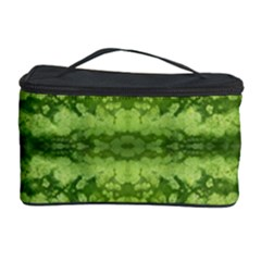 Watermelon Pattern, Fruit Skin In Green Colors Cosmetic Storage by Casemiro