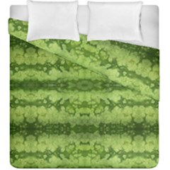 Watermelon Pattern, Fruit Skin In Green Colors Duvet Cover Double Side (king Size)