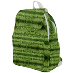 Watermelon Pattern, Fruit Skin In Green Colors Top Flap Backpack