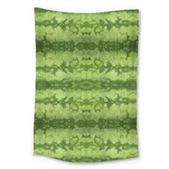Watermelon Pattern, Fruit Skin In Green Colors Large Tapestry by Casemiro