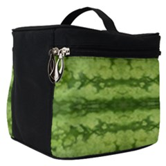 Watermelon Pattern, Fruit Skin In Green Colors Make Up Travel Bag (small)