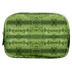 Watermelon Pattern, Fruit Skin In Green Colors Make Up Pouch (small)