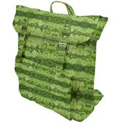 Watermelon Pattern, Fruit Skin In Green Colors Buckle Up Backpack by Casemiro