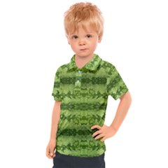 Watermelon Pattern, Fruit Skin In Green Colors Kids  Polo Tee