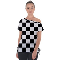 Chess Board Background Design Tie-up Tee
