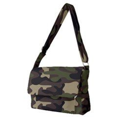 Texture Military Camouflage-repeats Seamless Army Green Hunting Full Print Messenger Bag (m) by Vaneshart