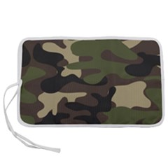 Texture Military Camouflage-repeats Seamless Army Green Hunting Pen Storage Case (l)