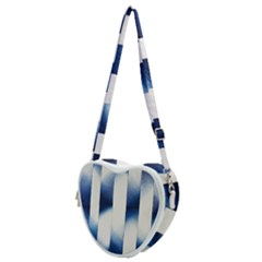 Blue Strips Heart Shoulder Bag