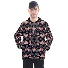 Shiny Hearts Men s Half Zip Pullover