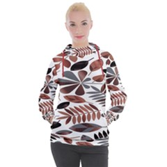 Shiny Leafs Women s Hooded Pullover
